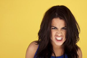 woman angry face